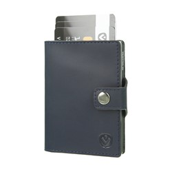 "Bild von Card Case Pocket Wallet ""Vintage blue"""